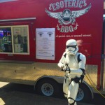 Esoteric BBQ truck with Star Wars Stormtrooper