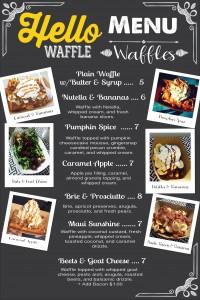 Hello Waffle Menu