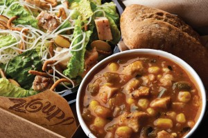 Zoup! lunch box- white chicken chili-asian salad